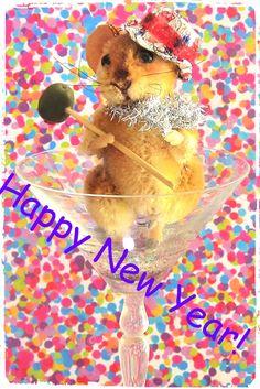 Needle Felted Art by Robin Joy Andreae: Happy New Year!