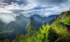 Cirque de Mafate Peaks and Gulleys, Reunion Island