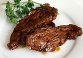 Barbecue Seitan Strips: This takes barbecue from the backyard to the bistro.