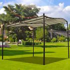 3m x 3m Deluxe Canopy Metal Wall Gazebo Awning Garden Marquee Shelter Door Porch