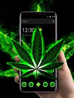 Weed wallpaper and theme icon pack for free.