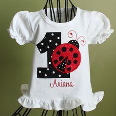 Birthday Applique Ladybug Shirt by LeelynnCrafts on Etsy