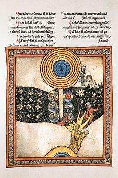 La vision de sainte Hildegarde, by Hildegarde de Bingen, Scivias, Codex illuminatus, ca 1180, Fac-similé sur parchemin réalisé en 1925, Monastère de Rudesheim (Allemagne), Facs. fo 607