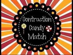 Here is a fun and sweet way for students to learn about contractions and match them together! This comes with: - 40 Word Cards (exm: I, am, he, will, etc) - 20 Contraction cards (Made from word cards) - 2 pages (print back to back) for student responses (sections for students to write each word and contraction they make) - Instructions ENJOY!