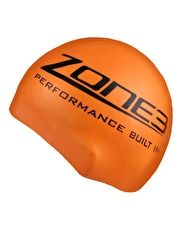 Zone 3 Silicone Swim Cap Hi Vis - Orange This bright and comfortable Silicone Swim Cap Hi Vis from Zone 3 will ensure you are seen in open water or in the pool http://www.MightGet.com/january-2017-13/zone-3-silicone-swim-cap-hi-vis--orange.asp