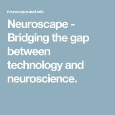 Neuroscape - Bridging the gap between technology and neuroscience.