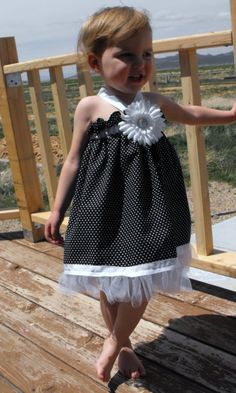 DIY  Black and White Tutu dress by MountainViewBoutique on Etsy