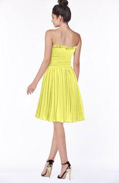 30b3a38d59932 Princess A-line Sleeveless Knee Length Pleated Bridesmaid Dresses Pale  Yellow Bridesmaid Dresses, Color