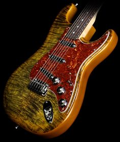 Fender Custom Shop Spalted Maple Top Artisan Stratocaster in Buckeye