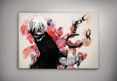 Image of Tokyo Ghoul Ken Kaneki Watercolor Anime Manga Otaku Print Poster n256