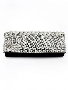 Waved Pearl Dinner Cosmetic Hand Bag