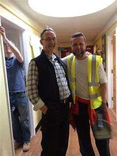 Crumlin Hospital Support where Newbridge Rotary Club hung 50 doors for free for the Parents Accomodation.