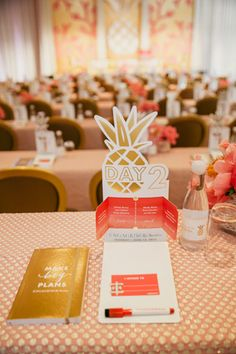 <p> The design's ombre palette and cut-out icons were incorporated into the agendas, itineraries, and other conference materials.</p>