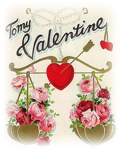 free-valentines-day-clip-art-to-my-valentine-heart-scale-with-pink-roses1.jpg (390×480)