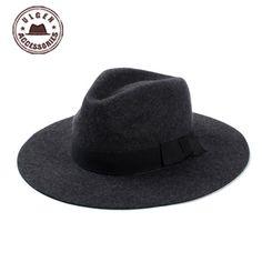 b7b6afa1690 2015 Hot Sale Kentucky Derby Hats Classical Mens Wide Brim Felt Wool Fedora  Hats For Floppy