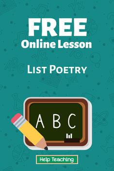 A list poem is a poem written as a list. However, it's a little more complex than just writing out a grocery list. When you create a list poem, you consciously place items in a list in order to create a poem with a deeper meaning. Click the link to learn more about list poetry! #writing #onlinelesson #onlinelearning
