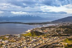 Hotel Arakur Ushuaia. Sunrise at Ushuaia, the southern most city in the world, Tierra del Fuego, Patagonia, Argentina