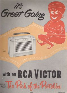 RCA Victor portable radio advertisement.