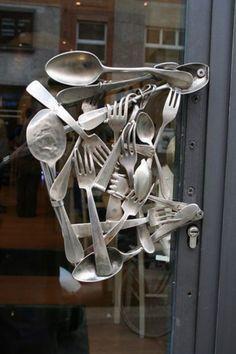 A very cool door handle.