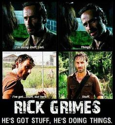 """Just some """"The Walking Dead"""" funnys. - love you Rick Grimes!!!"""