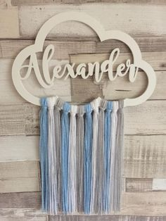 Personalised Wooden Cloud, Cloud Wall Hanger, Cloud Wall Mobile, Boys Room Decor, Scandi Style Decor,Dreamcatcher Mobile, Baby Boys Nursery ••••••••••••••••••••••• PRE-ORDER ••••••••••••••••••••••••• .......... PLEASE READ BEFORE ORDERING.......... This item is a pre-order Dream Catcher Nursery, Dream Catcher Mobile, Boys Room Decor, Boy Room, Murs Mobiles, Baby Shawer, Baby Boys, Wooden Blocks Toys, Unicornios Wallpaper
