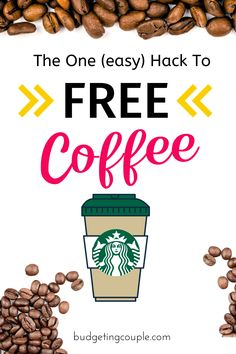 The 1 hack you need to rack up FREE Starbucks Gift Cards on autopilot 🤑 Find out how this free app will gift you free gift cards and free money for doing all of your normal shopping. 🛍 This is such an easy money saving tip for frugal living beginners looking to save money without trying. Budgeting Couple | Budgeting Couple Blog | BudgetingCouple.com #free #coffee #starbucks #giftcards