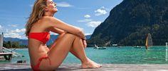 summer time - traumhafte bergkulisse inklusive! Bikinis, Swimwear, Summer, Fashion, Summer Vacations, Water Sports, Bathing Suits, Moda, Swimsuits