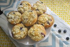 The UH-Mazing Brown Butter Blueberry Muffins. Seen on @Tracy Benjamin from @joythebaker