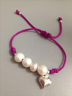 Perlas freshwater con nudo franciscano