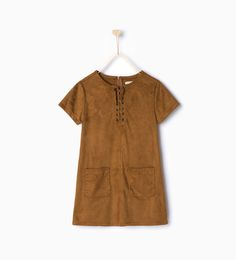 Faux suede dress-View all-Dresses and Jumpsuits-Girl-Kids | 4-14 years-KIDS | ZARA United States