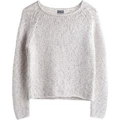 MTWTFSS Weekday Nova Knit Sweater Off White found on Polyvore