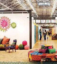 urban outfitters office foyer colorful and funky cooloffice cool office space idea funky