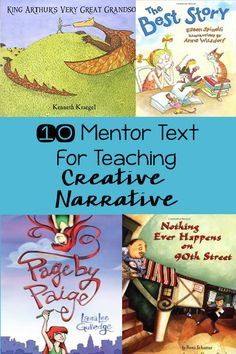 See 10 great mentor texts for creative narrative writing. Teach students the writing process and elements of creative narrative using these mentor texts. See 10 great mentor Teaching Narrative Writing, Writing Mentor Texts, Mentor Sentences, Writing Lessons, Writing Activities, Writing Process, Kindergarten Writing, Writing Ideas, Sentence Writing