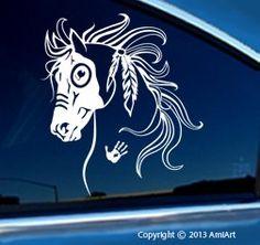 Amazon.com: Horse Decal - WAR HORSE - Equestrian -I Love my Horse - Bumper Sticker Decal-LEFT: Automotive