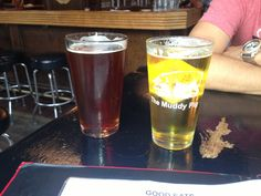 Sweet Yamma Jamma by Indeed (sweet potato beer) & Bell's Quinannan Falls Lager