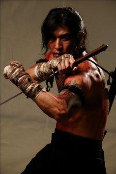 Fight, sword, male