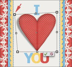 CUSTOMIZED SHADOWS Folded Heart | Digital Scrapper Blog