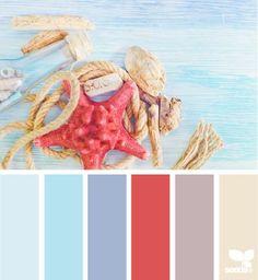 Les couleurs d'un mariage sur le thème de la plage ou à la plage