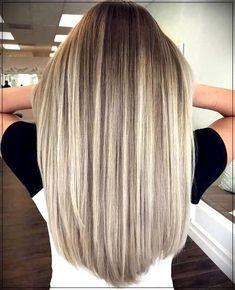 Cool Blonde Hair, Balayage Hair Blonde, Blonde Ombre, Balayage Ombre, Ombre Hair Color, Brown Hair Colors, Fall Blonde Hair Color, Silver Hair Highlights, Cool Blonde Highlights