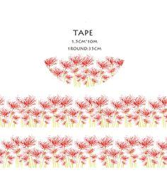Higanbana Flower Washi Paper Tape Scrapbooking Tools Cute Decorative Cinta Adhesiva Decorativa Japanese Stationery Washi Tapes