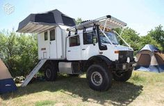 Mercedes-Benz Unimog 4x4 Double-Cab Camper with the rear Living module