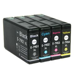 Full Ink 1Set 4 PCS  Ink Cartridge T7901 T7902 T7903 T7904 XL FOR Epson Pro WF-4630DWF 4640DTWF