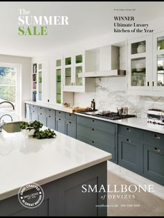 Two tone kitchen--this is it! This is what scheme we are looking for!