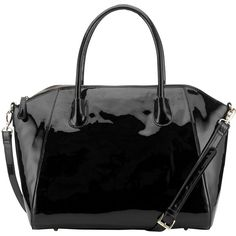 COLLECTION by John Lewis Patent Tote Handbag, Black ($63) ❤ liked on Polyvore