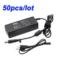 Lot 50pcs 19V 90W AC Adapter for HP CQ40 6535b G50 series 7.4mm/5.0mm With Cord