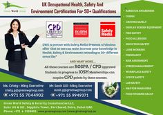 Green World Group provide marvelous offers for safety media course in dubai.hurry up to book your seats. http://greenwgroup.ae/