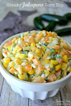 Jalapeno Corn Dip - a delicious addition to your Superbowl party (or any party) menu!!