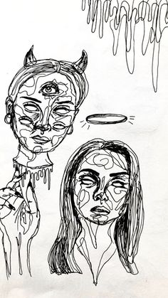 People sketches Artwork by Michaela Widergren. Animal Drawings, Art Drawings, Arte Grunge, Arte Peculiar, Art Et Design, Art Hoe, Wow Art, Psychedelic Art, Art Sketchbook