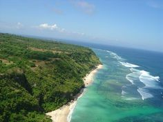 The Uluwatu cliff seen from above. Photo courtesy of Air Bali