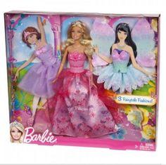 Barbie Royal Dress Up Doll Fairytale Magic Gift Set NIB #Mattel #DollswithClothingAccessories